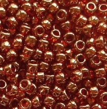 Toho 8/0 Seed Beads Gold Lustred African Sunset 329 - 10 grams